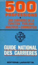 Guide National Des Carrieres - Couverture - Format classique