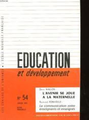 Education Et Developpement N°54 - Couverture - Format classique