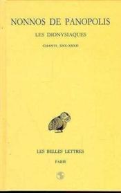 Dionysiaques t.10 ; chapitres 30-32 - Couverture - Format classique