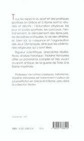 Naissance des jeux olympiques - 4ème de couverture - Format classique