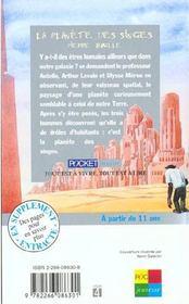 Planete Des Singes - 4ème de couverture - Format classique