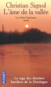 La rivière espérance t.3 ; l'âme de la vallée - Intérieur - Format classique