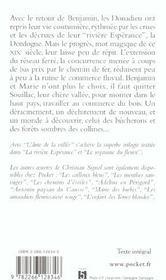 La rivière espérance t.3 ; l'âme de la vallée - 4ème de couverture - Format classique