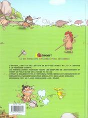 Aller à l'école t.1 ; chez les hommes préhistoriques - 4ème de couverture - Format classique