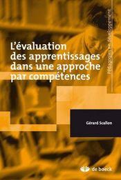 L'évaluation des apprentissages dans une approche par compétences - Intérieur - Format classique