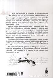 La Lettre Clandestine N.15 ; Les Relations Franco-Anglaises Aux Xviie Et Xviiie Siècles : Périodiques Et Manuscrits Clandestins - 4ème de couverture - Format classique