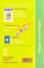 20 dissertations ; la paix - 4ème de couverture - Format classique
