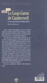 Le loup-garou de Camberwell - 4ème de couverture - Format classique