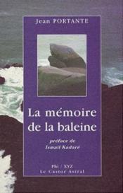 La Memoire De La Baleine - Couverture - Format classique