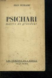 Psichari. Maitre De Grandeur. - Couverture - Format classique