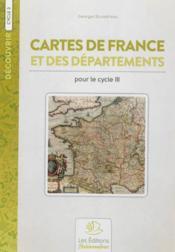 Cartes de france (+ 1 carte de departement) - Couverture - Format classique