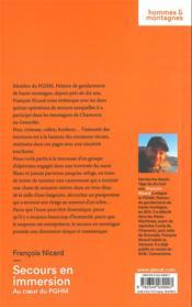 Secours en immersion ; au coeur du PGHM - 4ème de couverture - Format classique