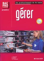 Gerer 1e Bac Pro Commerce - Couverture - Format classique