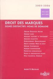 Droit des marques 2005/2006. signes distinctifs - noms de domaine - 2e ed. (édition 2005/2006) - Intérieur - Format classique