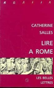 Lire a rome - Couverture - Format classique