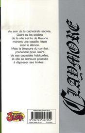 Claymore T.3 ; Thérèse la souriante - 4ème de couverture - Format classique