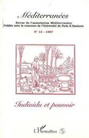 Mediterranees N°13 Individu Et Pouvoir - Couverture - Format classique