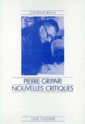 Nouvelles Critiques - Couverture - Format classique