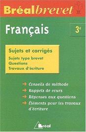 Francais 3eme - Intérieur - Format classique