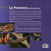 La Provence en plein vol - 4ème de couverture - Format classique
