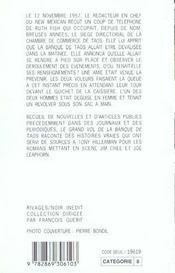 Le Grand Vol De La Banque De Taos - 4ème de couverture - Format classique
