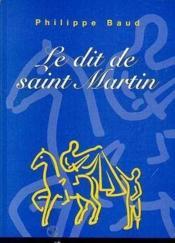 Le dit de Saint Martin - Couverture - Format classique