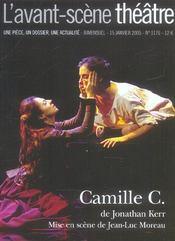 Revue L'Avant-Scene Theatre N.1176 ; Camille C. - Intérieur - Format classique
