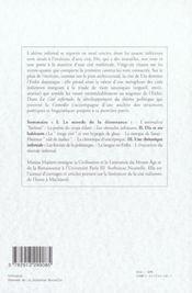 Dante la cite infernale ; chroniques italiennes - 4ème de couverture - Format classique