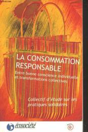 La consommation responsable - Couverture - Format classique