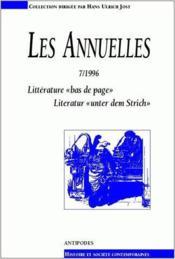 LES ANNUELLES N.7 ; littérature
