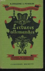 Lectures Allemandes. Classe De Premiere Et Classes Superieures. - Couverture - Format classique