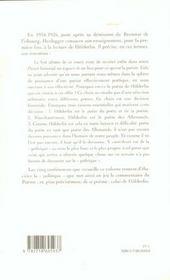 Heidegger - 4ème de couverture - Format classique