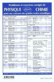 Problemes Corriges De Physique Centrale/Supelec Tome 6 2000-2001 Mp-Pc-Psi-Tsi - 4ème de couverture - Format classique