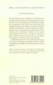 Cher Premier Amour - 4ème de couverture - Format classique
