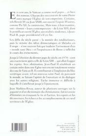 Les papes au XX siècle - 4ème de couverture - Format classique