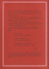 Journal Invisible - 4ème de couverture - Format classique