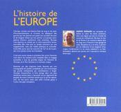 L'Histoire De L'Europe Racontee Aux Jeunes - 4ème de couverture - Format classique