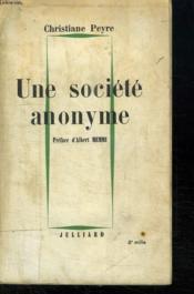 Une Societe Anonyme. - Couverture - Format classique