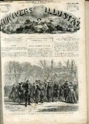 L'UNIVERS ILLUSTRE - TREIZIEME ANNEE N° 832 - Le siège de Paris, départ du 10e régiment de la garde nationale pour les avant-postes. - Couverture - Format classique