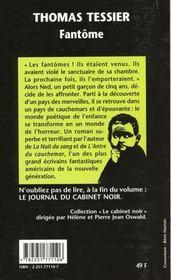 Fantome (cn11)**sodis pour librriries*** - 4ème de couverture - Format classique