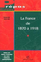 La France de 1870 à 1918 - Intérieur - Format classique