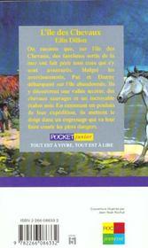 L'ile des chevaux - 4ème de couverture - Format classique