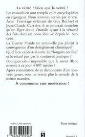 Le Dictionnaire Des Revelations - 4ème de couverture - Format classique