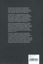 Polieri, createur d'une scenographie moderne - 4ème de couverture - Format classique
