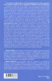 L'Economie Fondee Sur La Connaissance ; Questions Au Projet Europeen - 4ème de couverture - Format classique