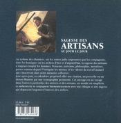 Sagesse des artisans au jour le jour - 4ème de couverture - Format classique