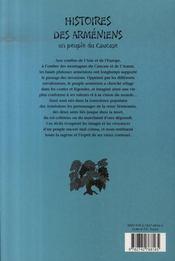 Histoires des arméniens ; un peuple du caucase - 4ème de couverture - Format classique