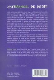 Antimanuel de droit - 4ème de couverture - Format classique