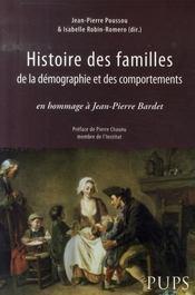 Histoire des familles, de la démographie et des comportements - Intérieur - Format classique