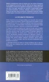 La diplomatie préventive - 4ème de couverture - Format classique